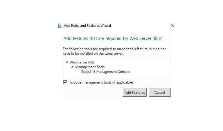 Add Required Features - Windows Server 2016 - iis چیست